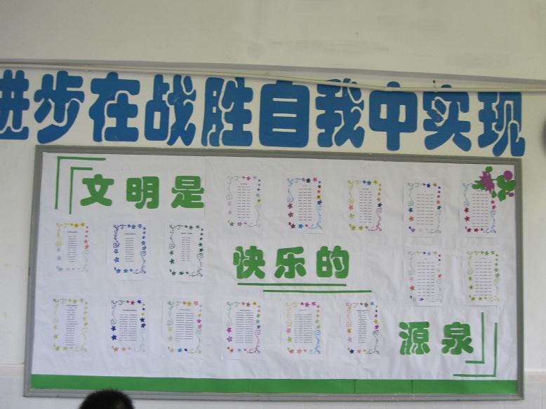 初中生教室展板布置