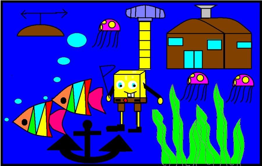 我们心中的海底世界(二年级windows画图作业展)