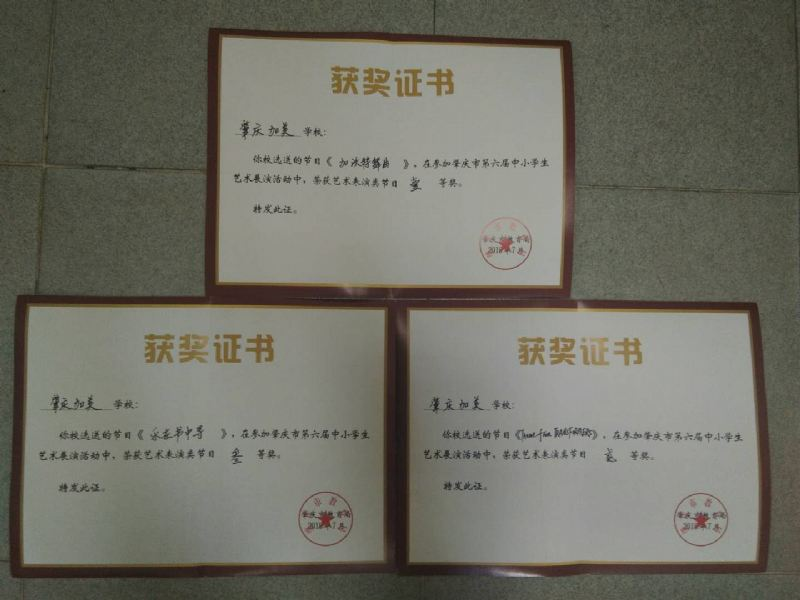 加美学校艺术中心在肇庆市第六届中小学艺术展演中再创佳绩